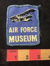 Vtg Bi-plane Airplane AIR FORCE MUSEUM Ohio Patch O89N