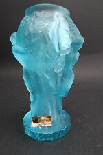 Art Deco Schlevogt Glasvase Vase 20 Jhd. Gablonz/Böhmen tanzende Frauen Set 1