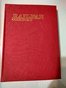 Railroad railfan magazines complete year 1988