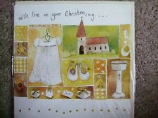 "ALEX CLARK OCCASIONS - ""WITH LOVE ON YOUR CHRISTENING"" CHRISTENING CARD (SEALED)"