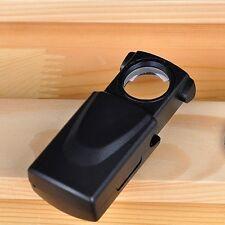 30x21mm LED Fold Eye Jewelry Loupe Magnifier Microscope Glass Lens