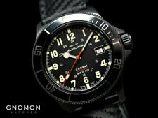 Glycine 42mm Combat Sub SWISS MADE Automatic SAPPHIRE Black Dial Watch GL0244