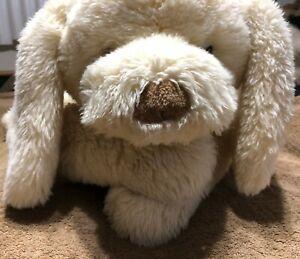 """Gund Keepsake Retriever 30""""+ Jumbo Muttsy 1738 White Stuffed Plush Rattle Tail"""