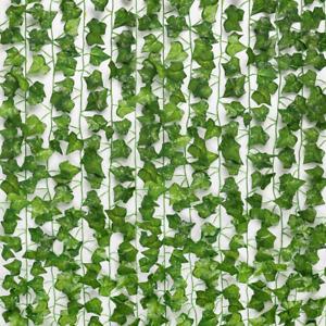 24pcs 158 Feet Fake Ivy Leaves Fake Vines Artificial Ivy Silk Ivy Garland