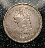 1837 Philadelphia Mint Silver Capped Bust Half Dollar Reeded Edge Ch AU Beauty!!