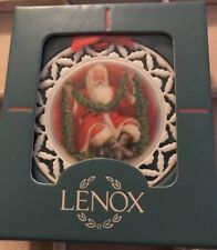 Lenox 1990 Santa With Garland Ornament from the Santa'S Portrait Series