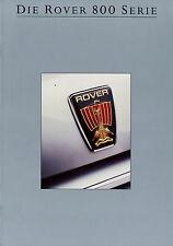 Prospetto ROVER 800 6 88 1988 827 si Sterling 820 auto prospetto auto automobili brochure