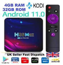 More details for h96 max v11 smart tv box (fully installed) android 11.0 4gb+32gb 4k uhd new