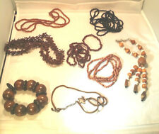 Super Nice Lot Of Brown Wood And Seed Jewelry - Boho Hippy