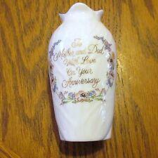 "Anniversary Vase Enesco To Mom & Dad Small 1989   3 1/2 """
