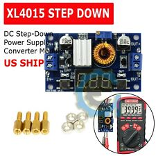 XL4015 5A DC Buck Step-down Adjustable Voltage Power Converter w/ LED Voltmeter