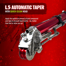 Automatic Drywall Taper New Quick-Clean Head Drywall Bazooka LEVEL 5 TOOLS