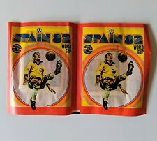 2 X FKS Spain 82 World Cup Sealed Unopened Sticker Packets RARE Not Panini VTG