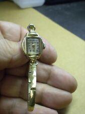 Vintage Bulova Womens 10KT Gold Plated Mechanical Wind Wrist Watch Runs