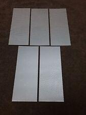 """( 5 ) Silver REFLECTIVE STRIPS sz. 8""""X3"""" Peel & Stick"""