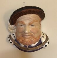 """Henry VIII Chalk Ware Wall Plaque Made in England Approx. 6"""""""