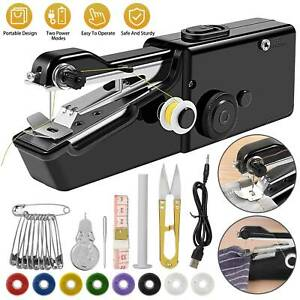 DIY Mini Sewing Machine Electric Stitch Portable Hand Cordless Travel Household