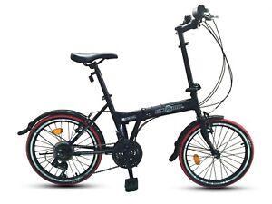"ECOSMO 20"" Brand New Folding City Bicycle Bike 21SP SHIMANO - 20F03BL+C"