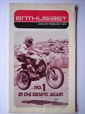 Harley-Davidson The Motorcycle Enthusiast Magazine January 1974 Desert Racing