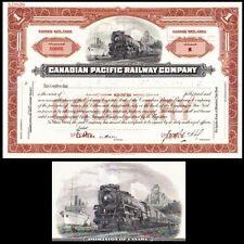 Canadian Pacific Railway Company Canada Stock Certificate specimen