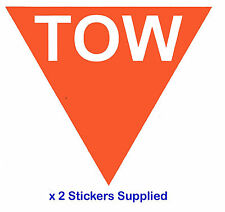 2 x TRIANGLE-ORANGE tow Flèche course / rallye voiture stickers / autocollants