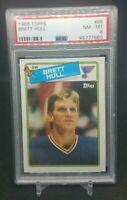 1988 Topps Brett Hull Topps ROOKIE RC #66 PSA 8 STL Blues, HOF, NHL, NM-MT
