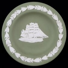 """Coupelle """"Cutty Sark Scots Whisky's"""" Porcelaine WEDGWOOD Ancien vert/green/boat"""