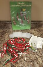 BUCILLA CHRISTMAS NEEDLEPOINT ORNAMENTS SET OF 6  COMPLETE KIT OPENED # 60385