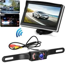 "Wireless Night Vision Car Backup Camera Rear View System W/5"" TFT LCD Monitor"