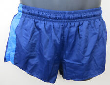 Vintage Adidas 80s Shorts Blue Running Retro Vtg Shiny Football Mens D5 Small S