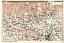 Carta geografica antica VARESE DINTORNI 1914 Old antique map