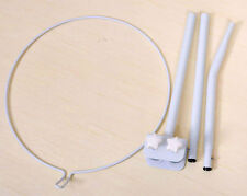 Clip-On Mosquito Net Stand Bracket Holder for Baby Crib Cot Bed, White