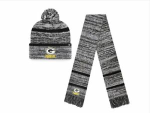 NWT Cool Green Bay Packers '47 Copeland Ice Matching Knit set of hat and scarf