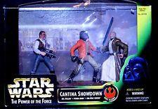 1997 Star Wars POTF Cantina Showdown Dr.Evazan,Ponda Baba,ObiWan Kenobi TORN BOX