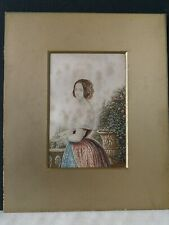 George Baxter Print 'Young Victoria' in Gilt Mount