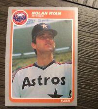 1985 Fleer Baseball Card Houston Astros Team Set Nolan Ryan Cruz Bass