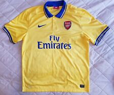 ARSENAL Nike football shirt jersey Yellow NIKE XL 2013 2014 AWAY Emirates