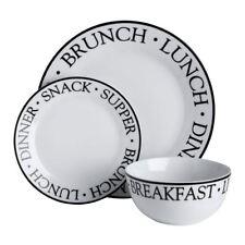 Premier Housewares 12pc Dinner Set Porcelain Noir