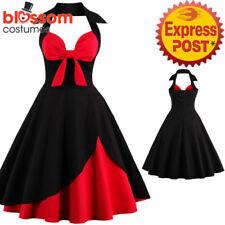 Halter Regular Dresses for Women's 1950s