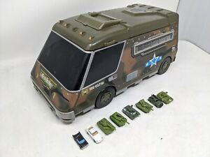 Micro Machines Military Army Super Van Truck City foldout Playset 1991 Cheyenne