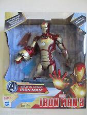 Marvel Sonic Blasting Iron Man 3 Action Figure w/ Missile Launch Lights & Sound!