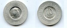 Gertbrolen 10 Centimes 1909 essai de Rude en Aluminium