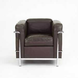 1980s Vintage Le Corbusier Cassina LC2 Petit Modele Armchairs in Brown Leather