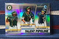 2020 Bowman Chrome #TP-OAK Talent Pipeline Rivas Lazaro Deichmann Athletics