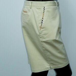 Burberry Golf Womens Beige Shorts Decorated Pocket Trim Cotton Size 10