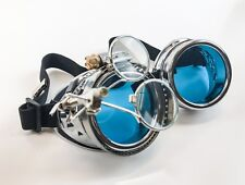 Steampunk Goggles Crazy GCG Burning man Cosplay Costume Mad Scientist 16X Blue