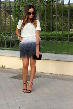Zara feather Gradient tye dye skirt bloggers size 8 10 12 s m