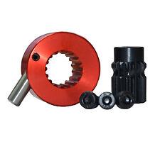 Splined Quick Release Steering Hub Satin Metallic Red Brisca F2 Autograss Mini