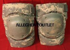 USGI Military Bijan Tactical Protective KNEE PADS Paintball ACU CAMO LARGE VG