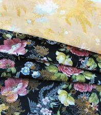 3 Yards HBR-907 Upholstery Chinese Art.Silk Brocade Fabric Black